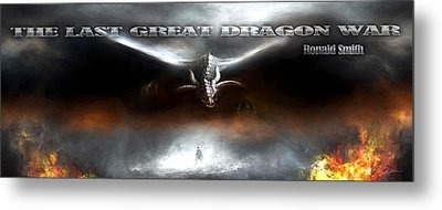 The Last Great Dragon War Metal Print by Peter Chilelli