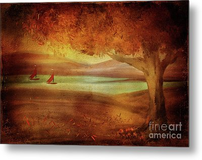 Metal Print featuring the digital art The Last Sail Of The Season  by Lois Bryan