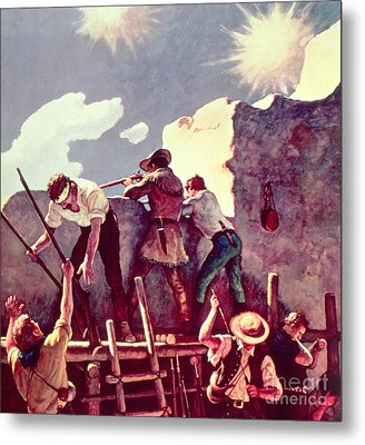 The Last Stand At The Alamo Metal Print