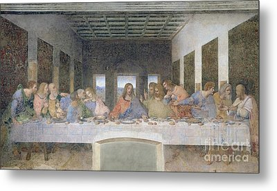 The Last Supper Metal Print by Leonardo da Vinci
