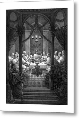 The Last Supper Metal Print by War Is Hell Store