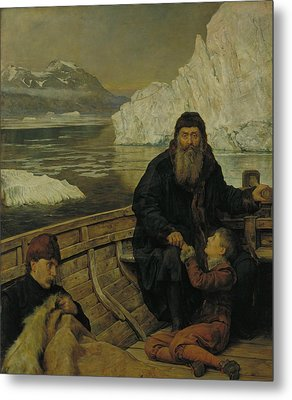 The Last Voyage Of Henry Hudson Metal Print by John Collier