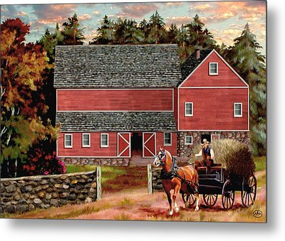 The Last Wagon Metal Print