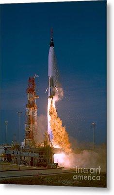 The Launch Of The Mercury Atlas Metal Print