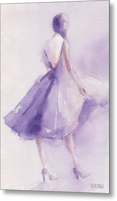 The Lavender Dress Metal Print by Beverly Brown