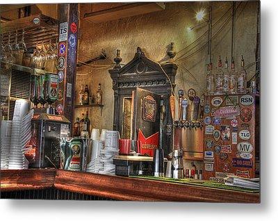The Lazy Gecko Bar Key West Metal Print by Scott Bert