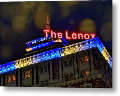 Metal Print featuring the photograph The Lenox And The Pru - Boston Marathon Colors by Joann Vitali
