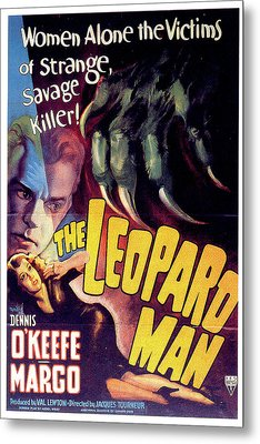 The Leopard Man Metal Print by Movieworld Posters
