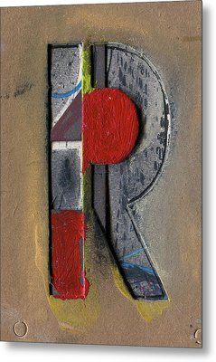 The Letter R Metal Print