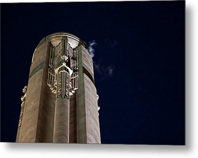 The Liberty Memorial At Night Metal Print