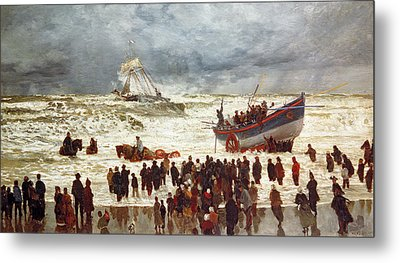 The Lifeboat Metal Print by William Lionel Wyllie