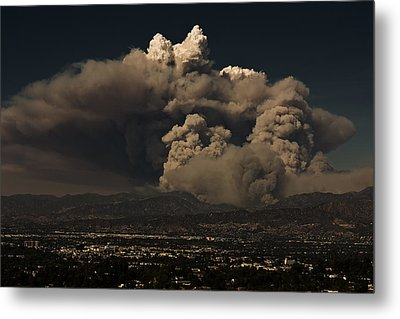 Metal Print featuring the photograph The Light At The Top Of The Smoke Cloud by Ron Dubin
