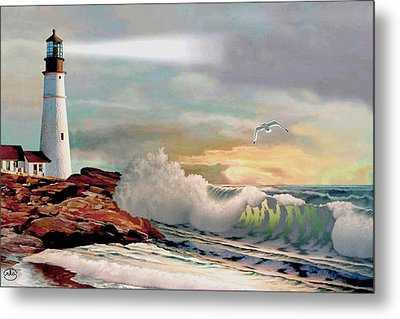 The Lighthouse At Portland Head Metal Print