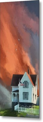 The Lighthouse Keeper's House Metal Print by Lois Bryan