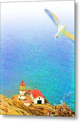 The Lighthouse Metal Print by Wingsdomain Art and Photography