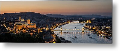 The Lights Of Budapest Metal Print by Thomas D Morkeberg