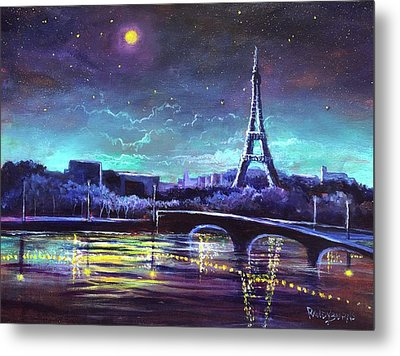 The Lights Of Paris Metal Print