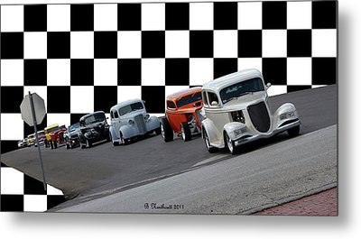 The Line-up Metal Print by Betty Northcutt