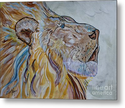 The Lion Call Metal Print by Ella Kaye Dickey