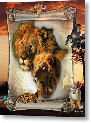 The Lion King From Africa Metal Print by Nadine May