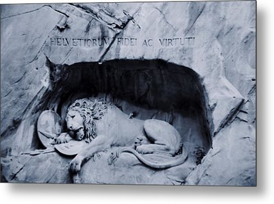 The Lion Of Lucerne Metal Print by Dan Sproul