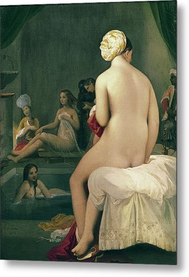The Little Bather In The Harem Metal Print by Jean Auguste Dominique Ingres