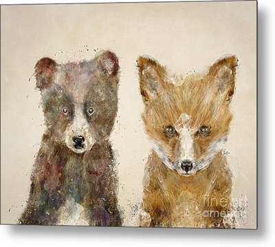 The Little Bear And Little Fox Metal Print by Bri B