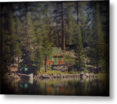 The Little Cabin Metal Print by Laurie Search