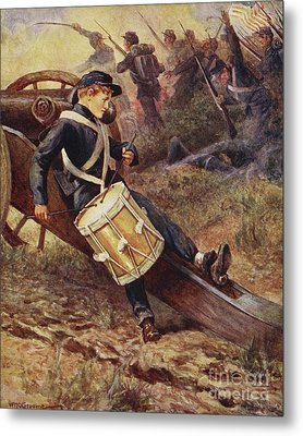 The Little Drummer Metal Print by William Henry Charles Groome