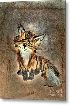The Little Fox - Abstract Metal Print