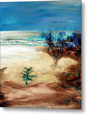 Metal Print featuring the painting The Little Pine Tree by Winsome Gunning