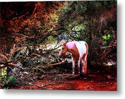 The Little Pink Unicorn By Pedro Cardona Metal Print by Pedro Cardona Llambias