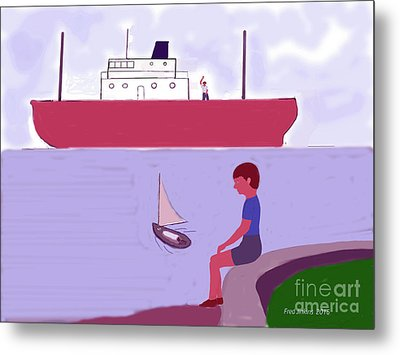The Little Sailboat Metal Print by Fred Jinkins