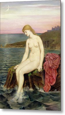 The Little Sea Maid  Metal Print by Evelyn De Morgan