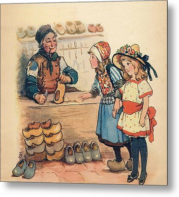 The Little Wooden Shoe Maker Metal Print