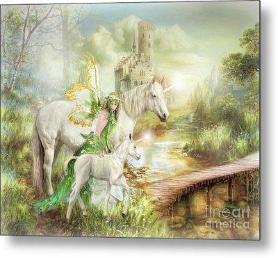 Metal Print featuring the digital art  The Littlest Unicorn by Trudi Simmonds