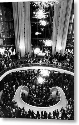 The Lobby Of The Metropolitan Opera Metal Print by Everett