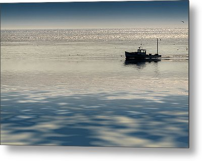 The Lobster Boat Metal Print by Rick Berk