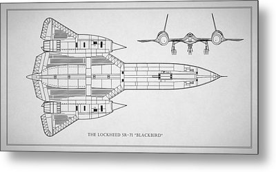 The Lockheed Sr-71 Blackbird Metal Print