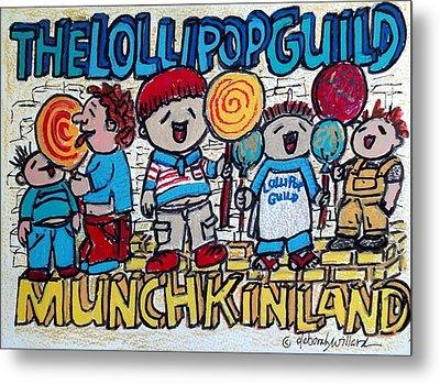 The Lollipop Guild Metal Print