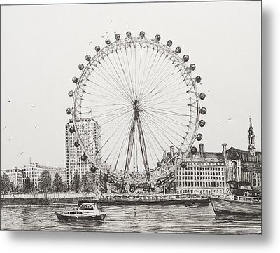The London Eye Metal Print by Vincent Alexander Booth