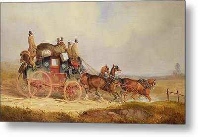 The London To Louth Royal Mail Metal Print by Charles Cooper Henderson