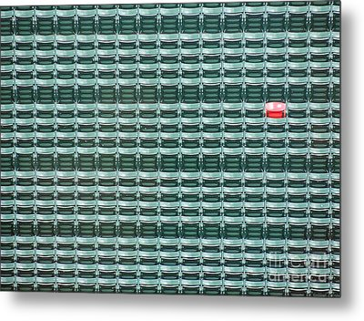 The Lone Red Seat At Fenway Park Metal Print