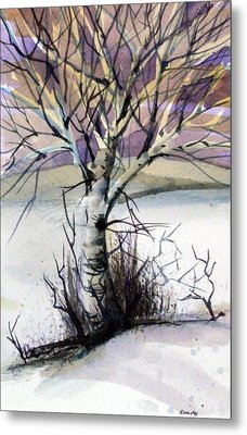 The Lone Tree Metal Print by Mindy Newman