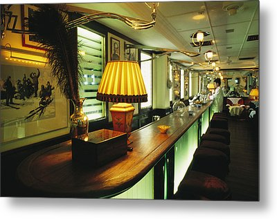 The Long March Bar At The China Club Metal Print by Justin Guariglia
