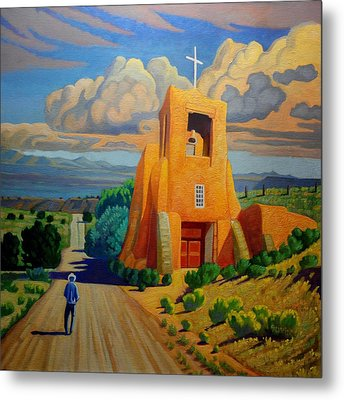 The Long Road To Santa Fe Metal Print