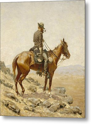 The Lookout Metal Print by Frederic Remington