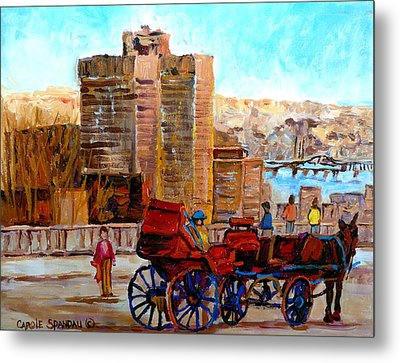 The Lookout On Mount Royal Montreal Metal Print by Carole Spandau