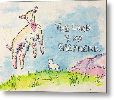 Metal Print featuring the painting The Lord Is My Shepherd by Chris Rice