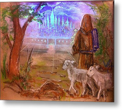 The Lord Is My Shepherd Metal Print by Mike Ivey